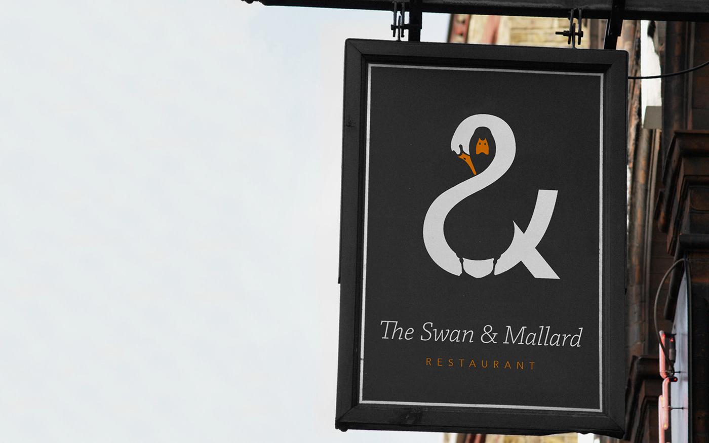 swan,mallard,Nagative,Space ,negative space,pub,restaurant,logo,Double meaning,double,Noma Bar,duck,idea,concept,creative