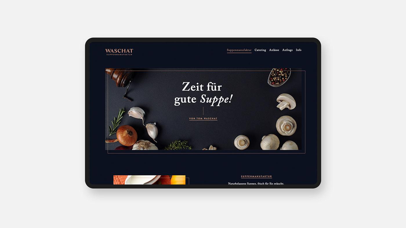 branding  Corporate Design elegant Food  minimal Soup Webdesign