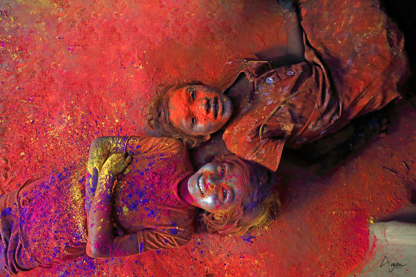 colour,Holi Festivity,India,kids,march,Outdoor,people,red,travelphotography