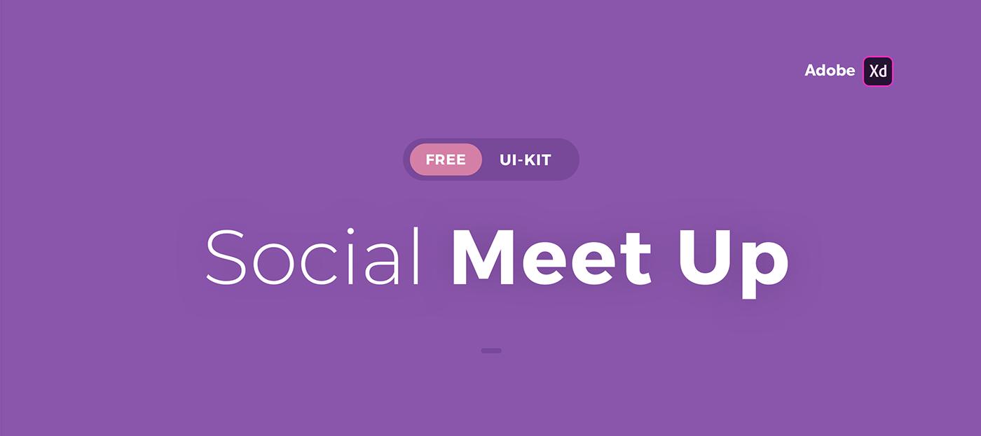 UI kit free xD ios screens motion animation  product lottie
