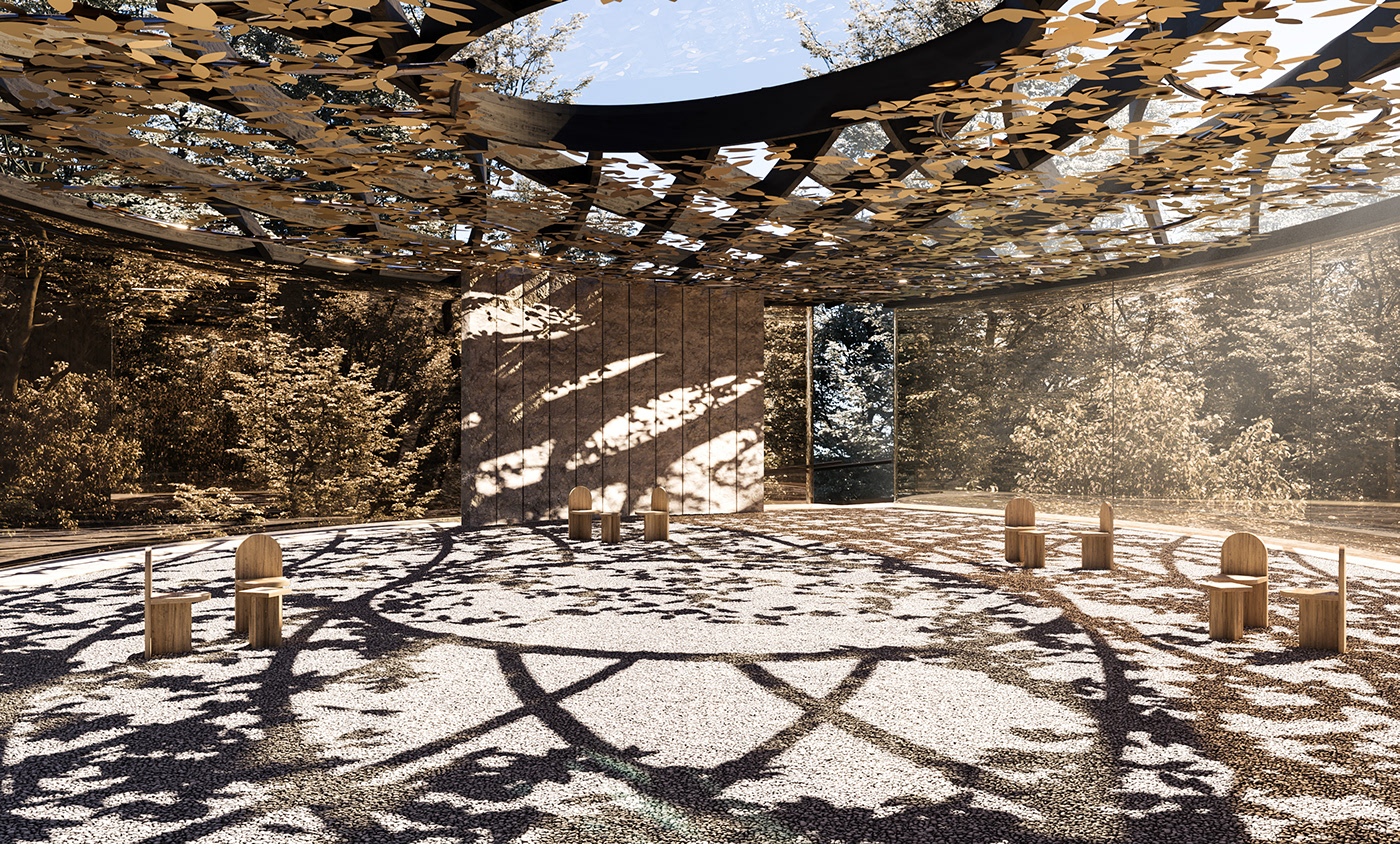 TERRA: A meditative playful pavilion. Visualization by Converter Studio and FERMINNAN