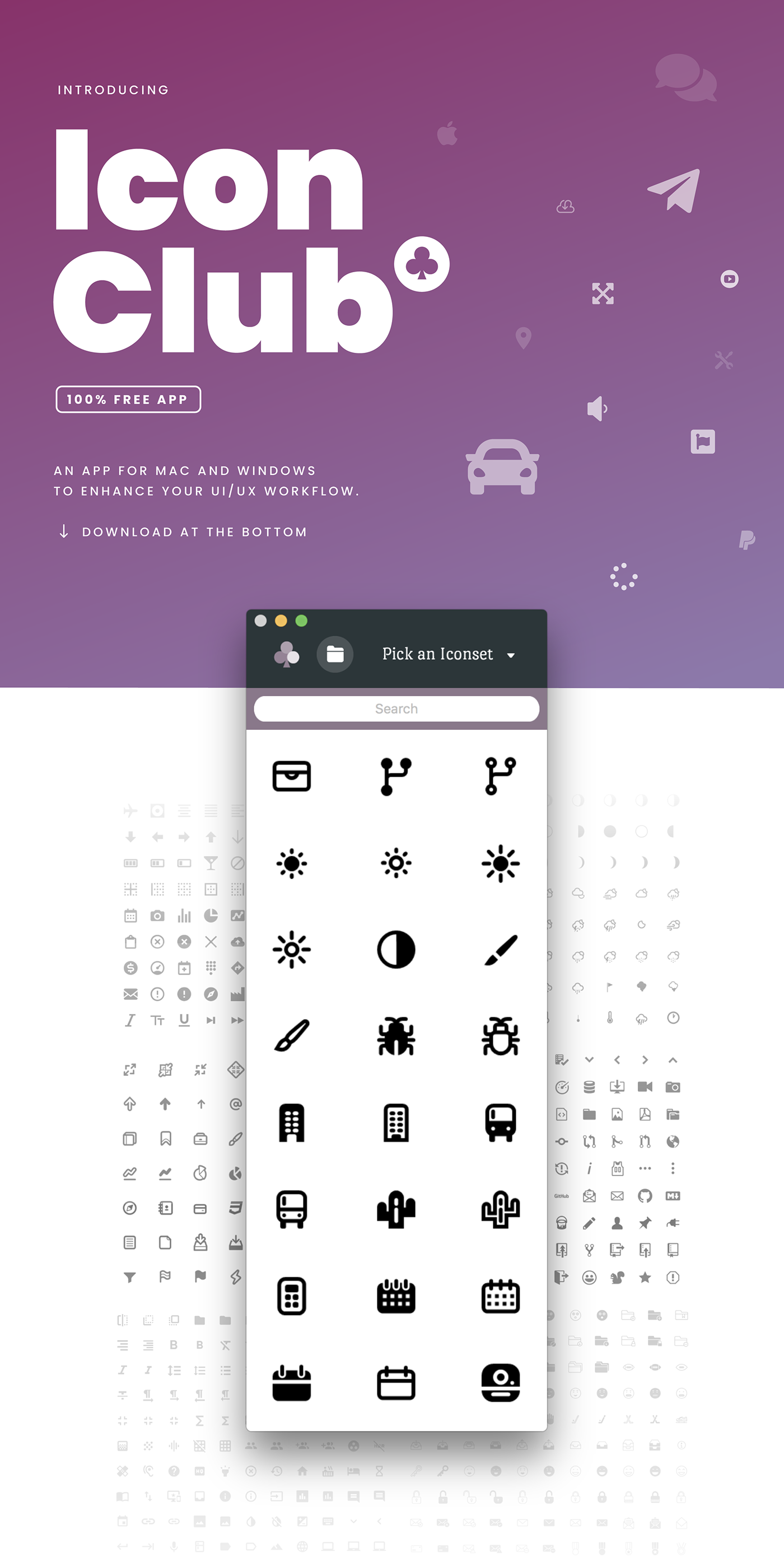 free commercial Icon icons font prototype wireframe tool app logo