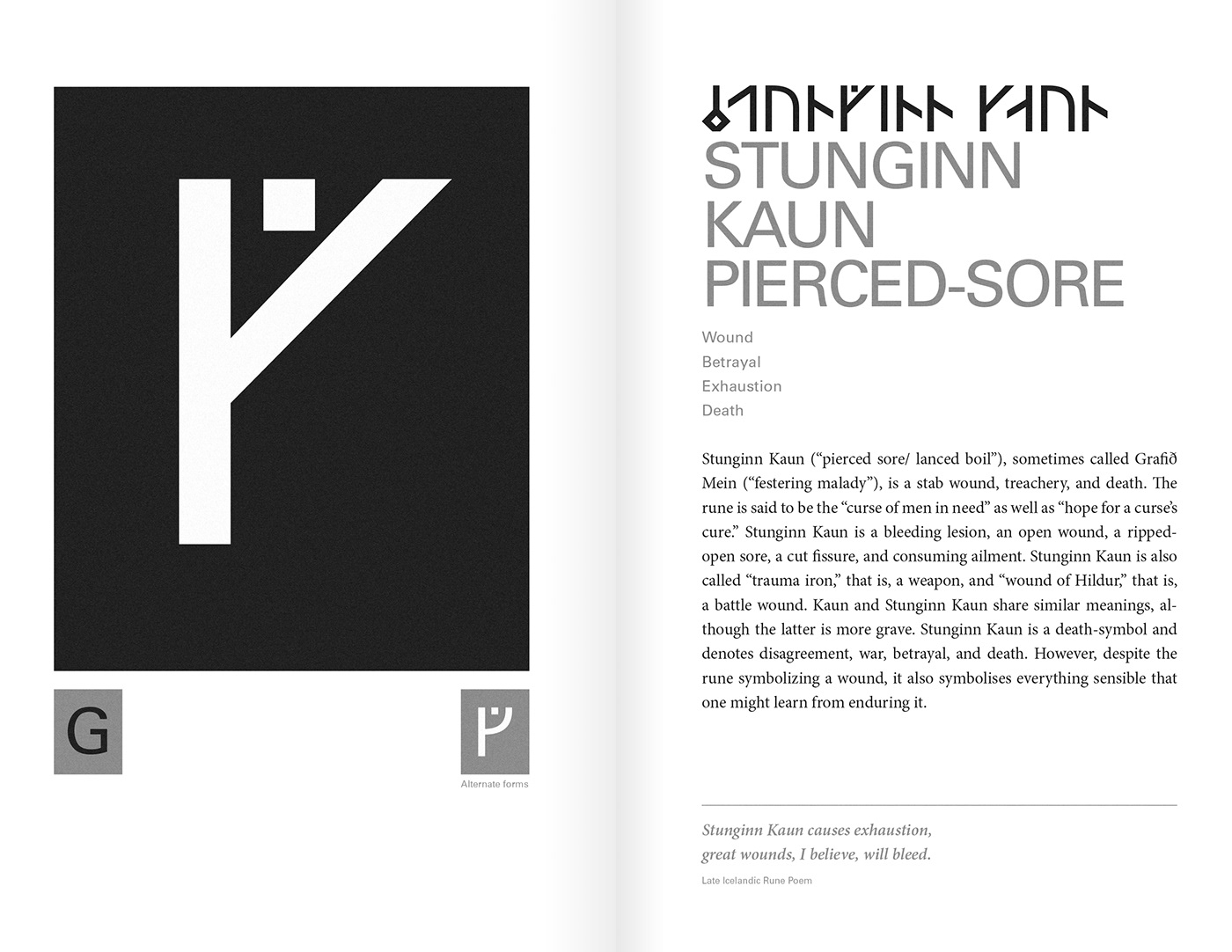 runes typography   book cover editorial type poster iceland