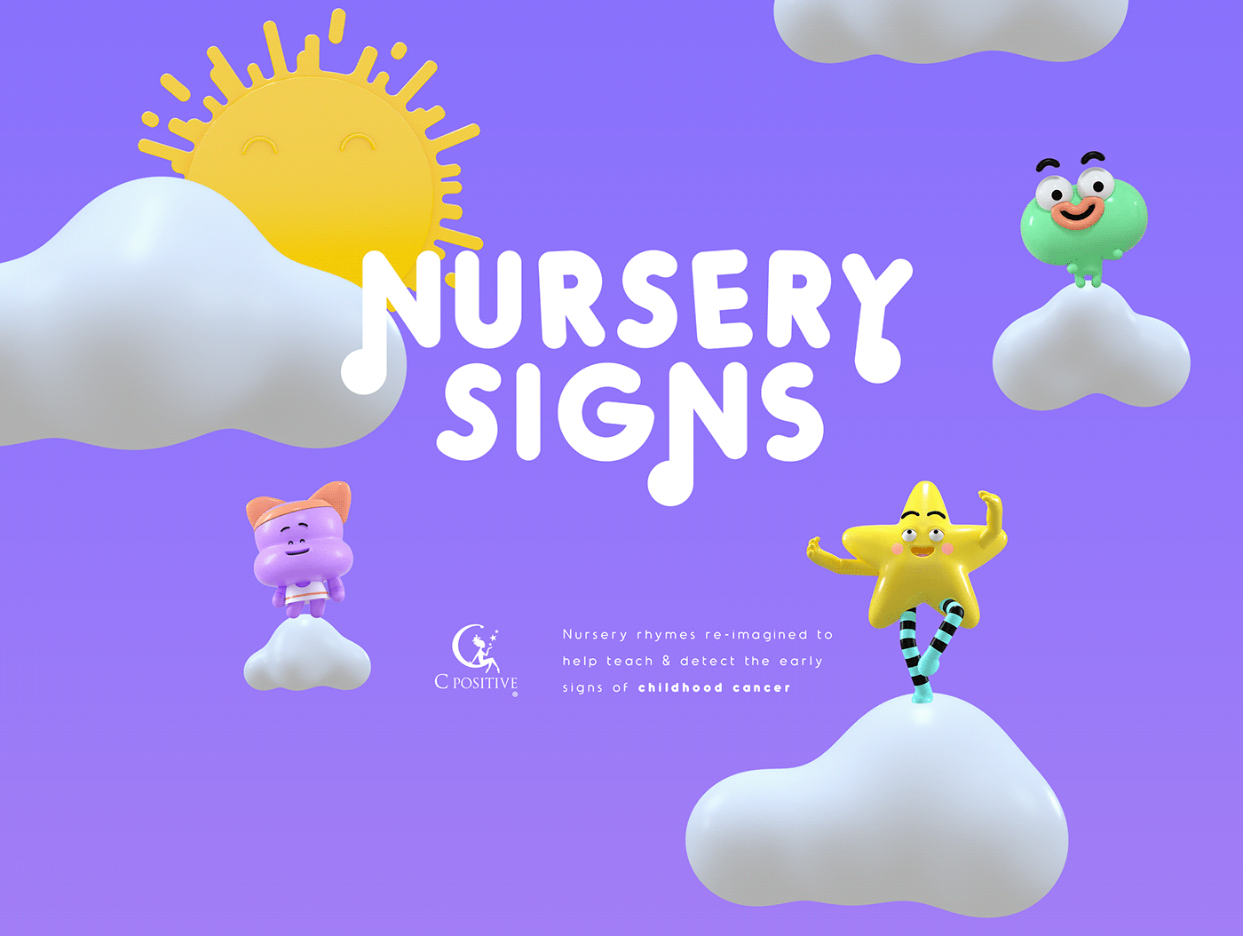 nursery rhymes Character design  3d animation childhood cancer saatchi dubai art direction  campaign ad Advertising