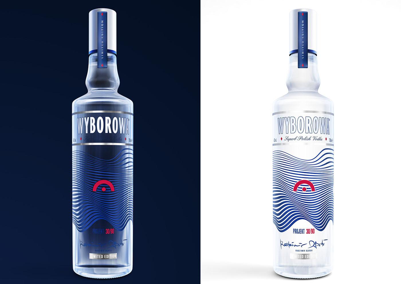 Vodka wyborowa bottle 3d bottle Vodka 3D 3d glass