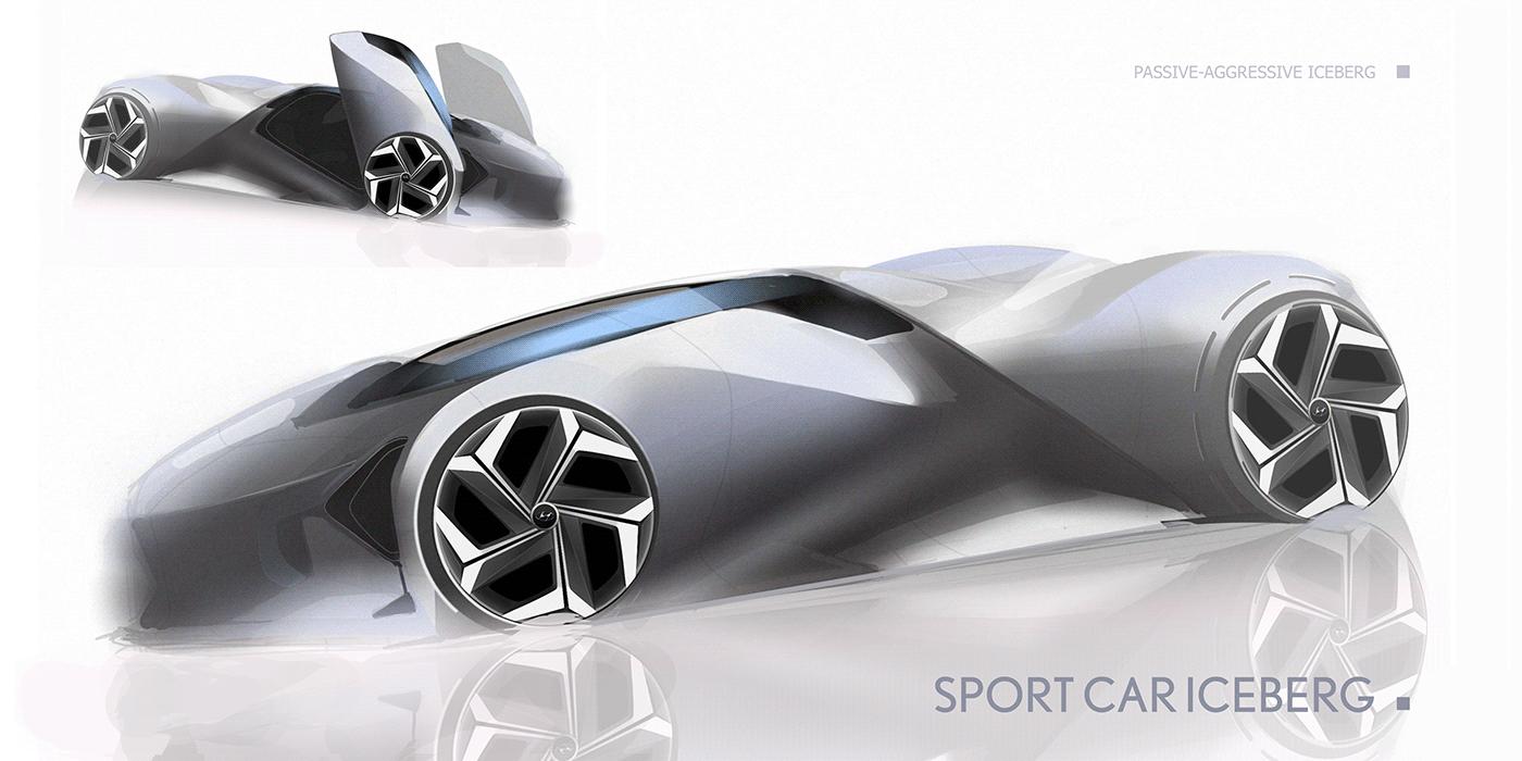 car concept design ILLUSTRATION  sketches vehicles