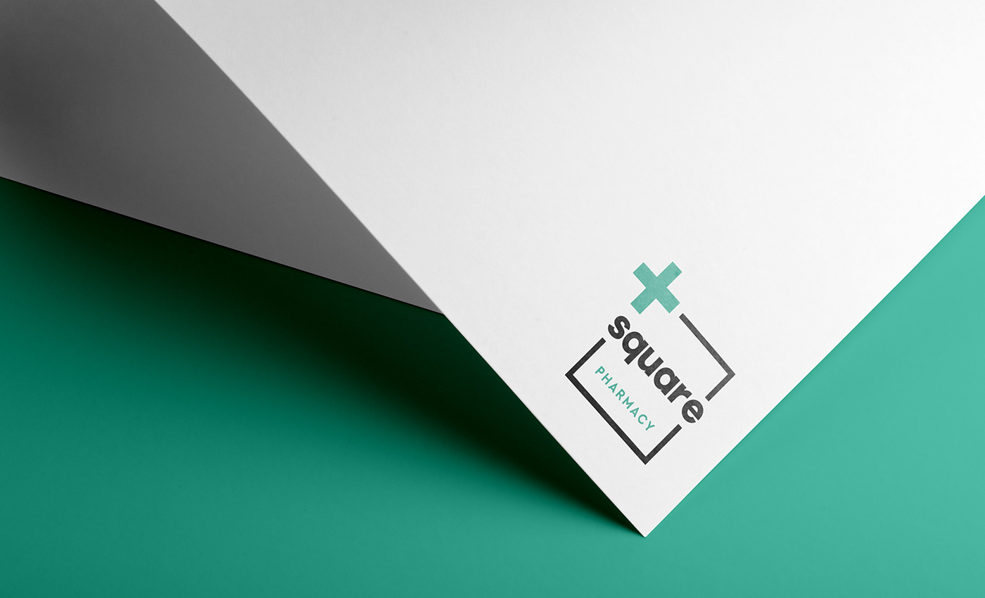 apoteka branding  CHEMIST SHOP drugstore Health logo minimal pharmacy square