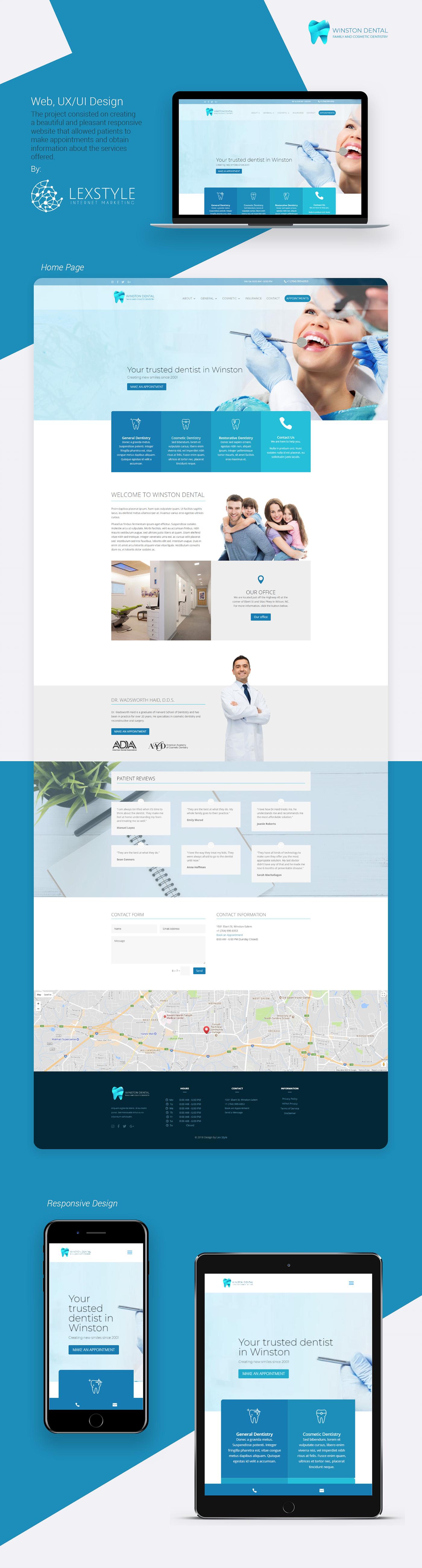 dentalwebdesign medicalwebdesign dentaldesign doctordesign Webdesign uidesign uxdesign Webdevelopment MedicalDesign