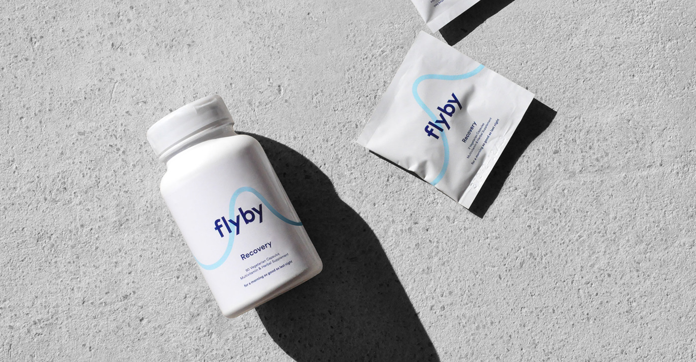 Packaging alcohol hangover vitamin Health supplement branding  icons bottle capsules