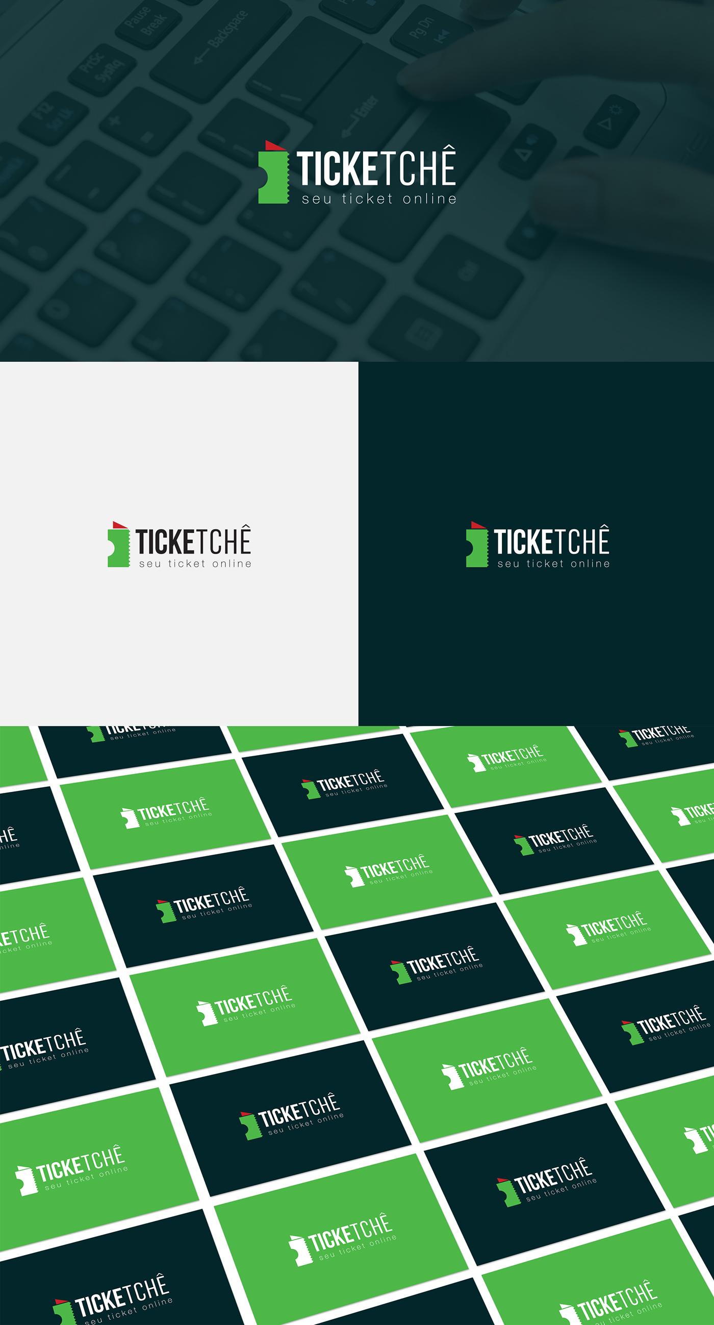 plataforma online ticket ingressos digital brand logo