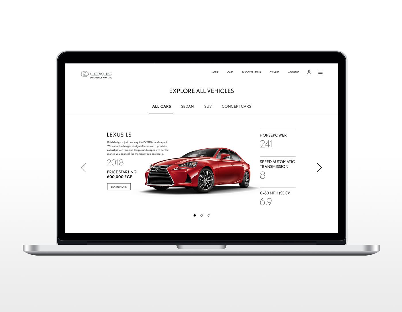 Lexus Egypt Website UI/UX Concept Design on Behance