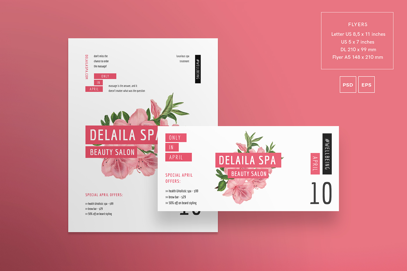 Delaila Spa Modern And Creative Templates Suite On Behance