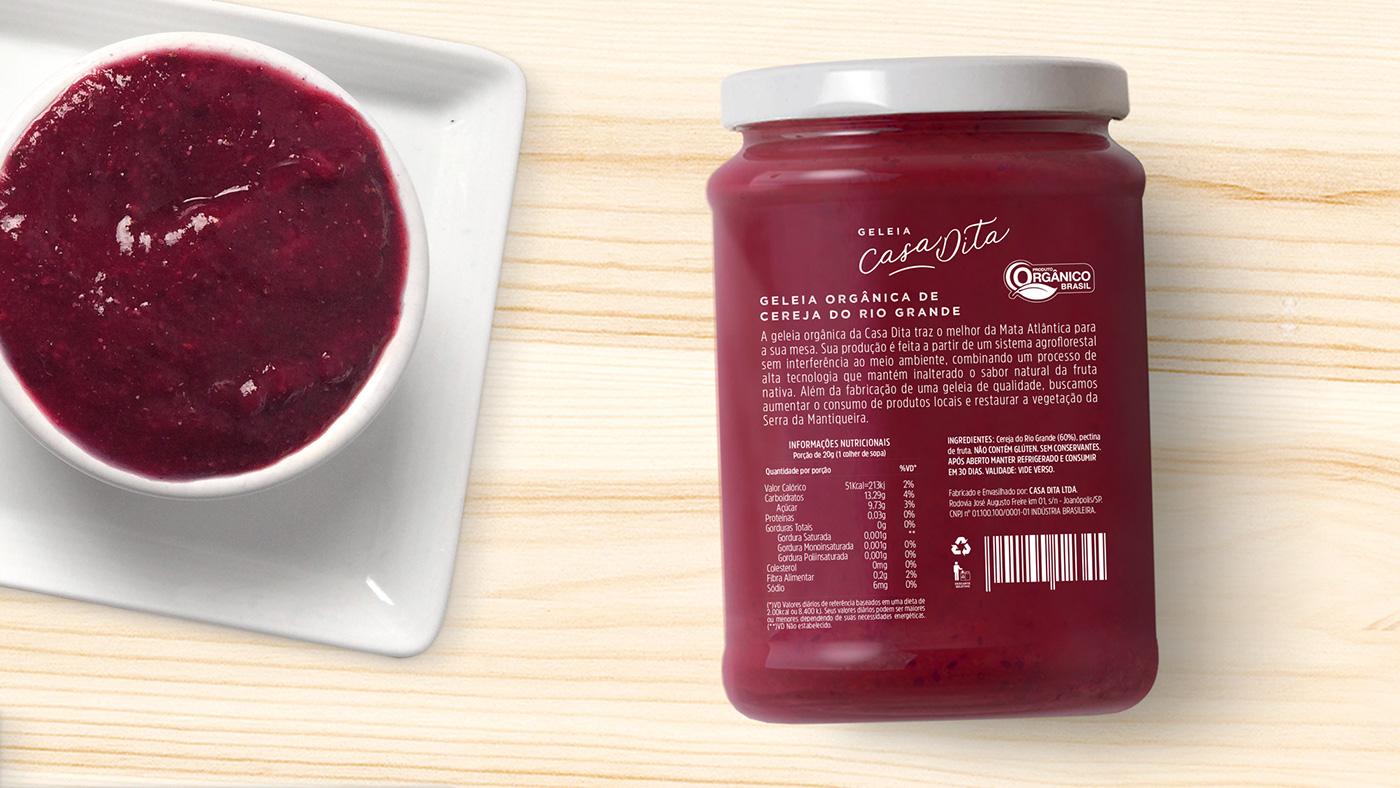 jam Packaging Fruit package Food  Brazil logo branding  eco organic