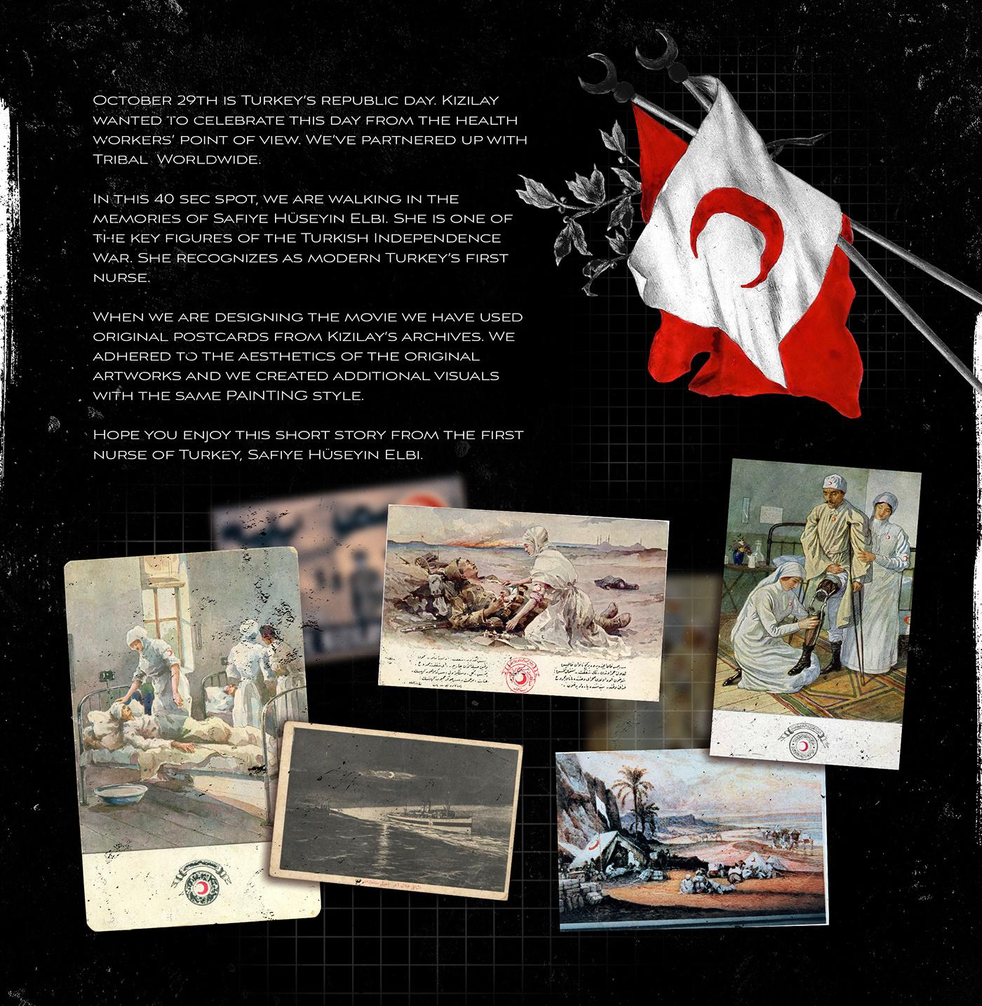 29 ekim collage cumhuriyet kızılay parallax postcard Republic Title vintage