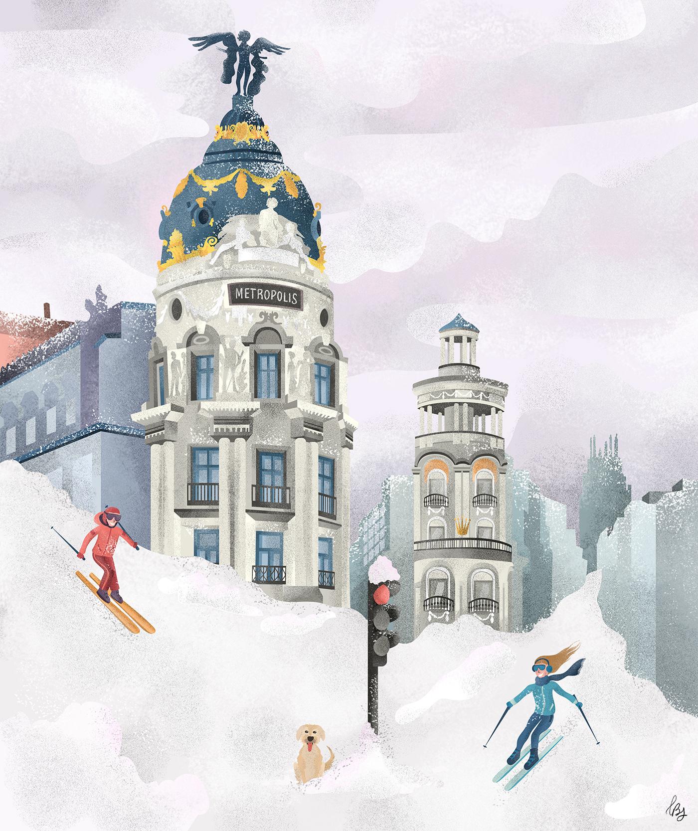 art direction  design dirección de arte graphic graphic design  ILLUSTRATION  ilustracion madrid madrid nevado