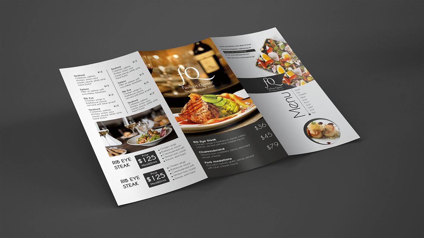 優秀的29套菜單設計範本欣賞