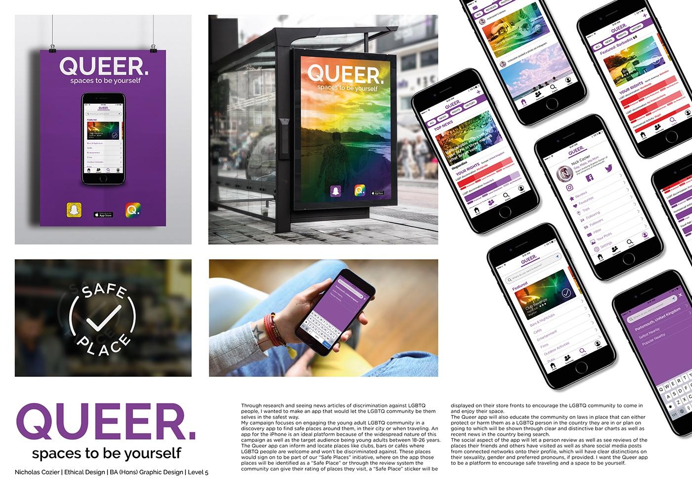 Adobe Portfolio graphic design  ethical design queer LGBT LGBTQ gay pride rainbow
