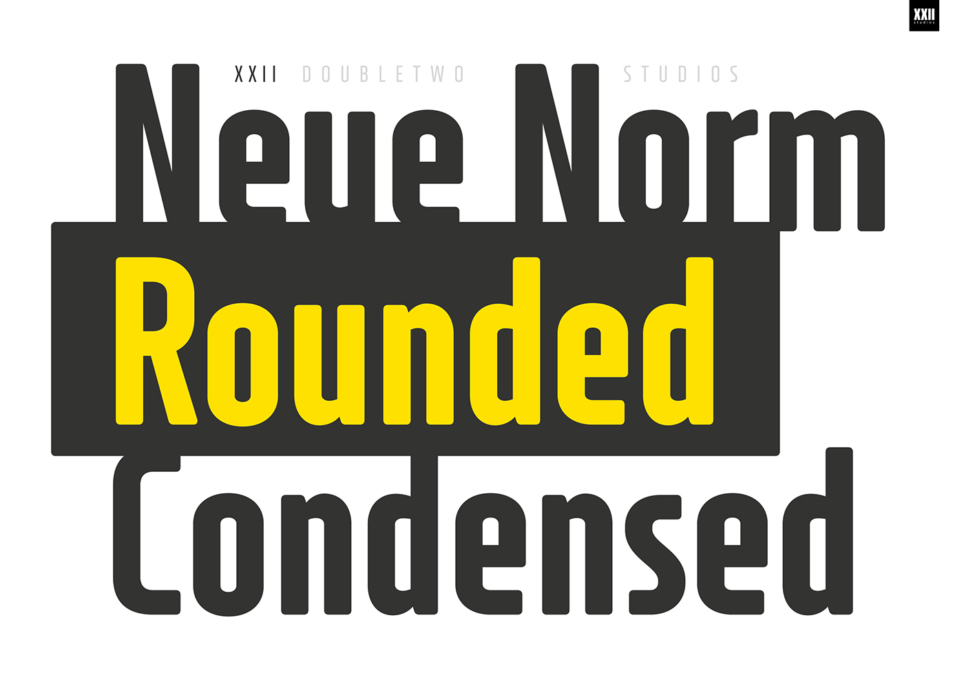 XXII Neue Norm Rounded Condensed - Font Family on Behance