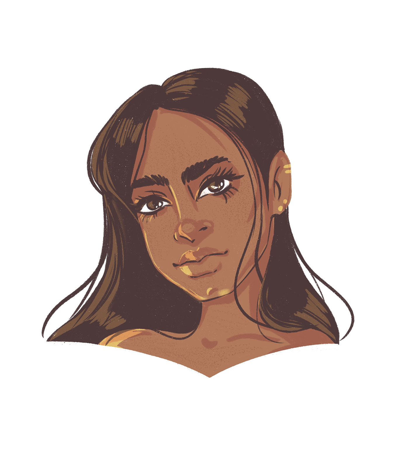 Character emotions face ILLUSTRATION  limited color people sketch woman