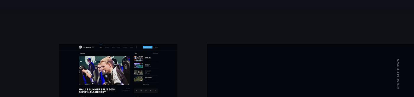 tsm tsm website TeamSoloMid tsm concept STRV ales nesetril esports Gaming eSports Team league of legends