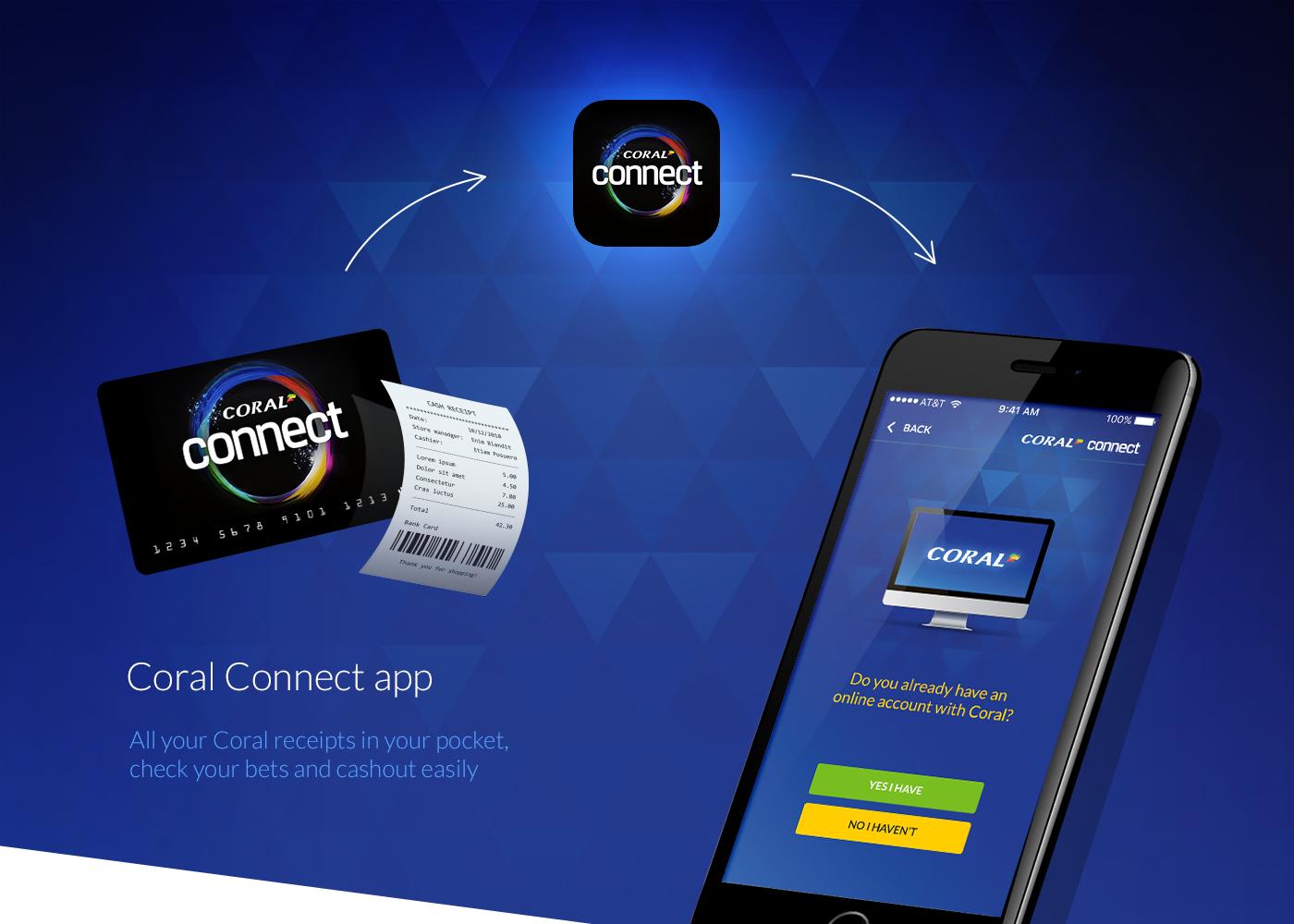 app design prototype UI ux flinto betting coral