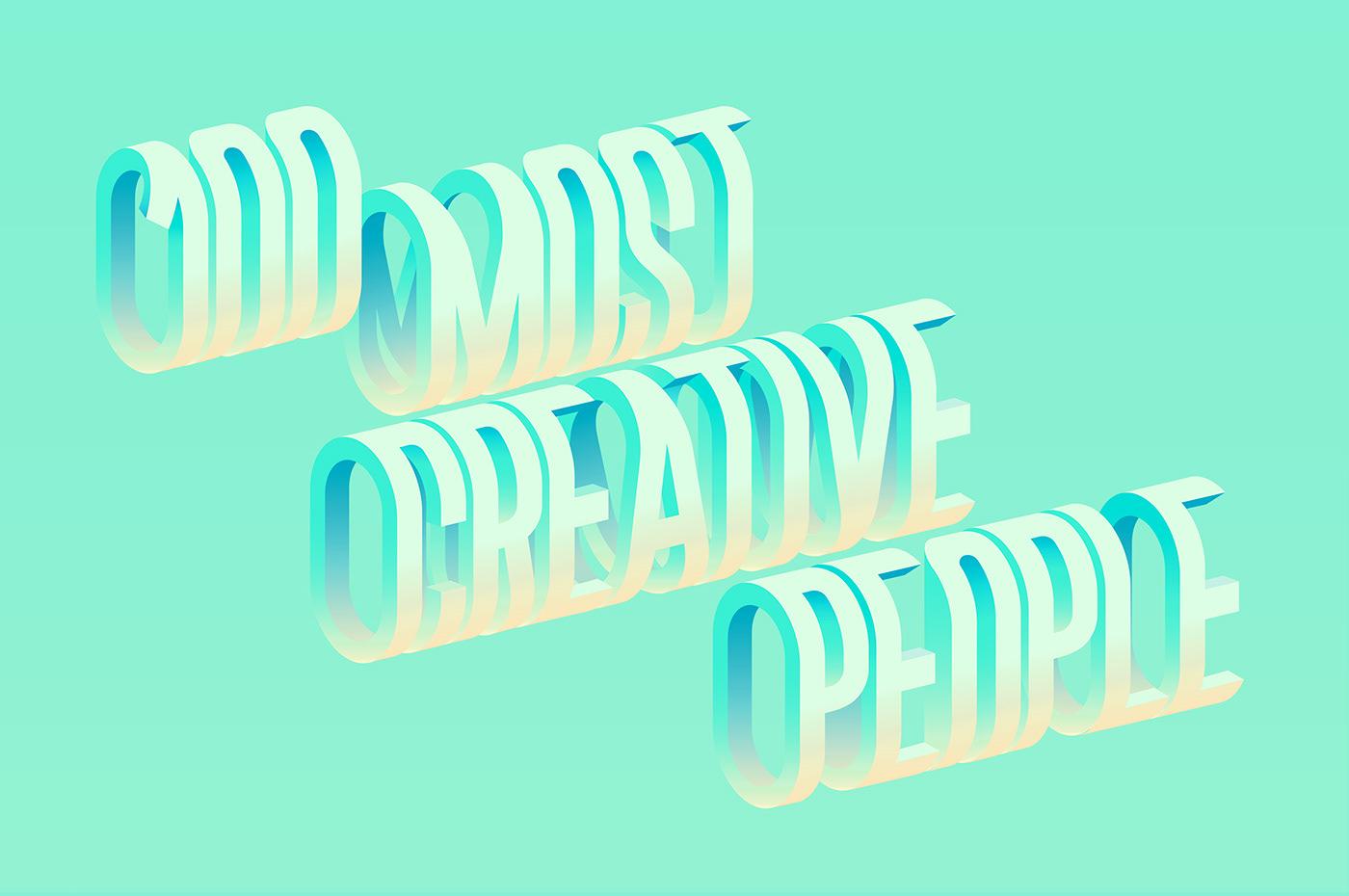 gradient type geometric magazine Isometric 3D poster ILLUSTRATION  abstract