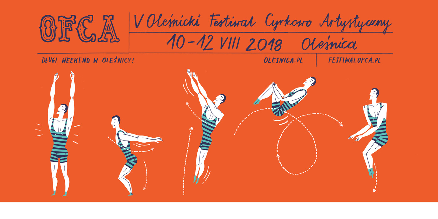 Circus poster graphic identity design