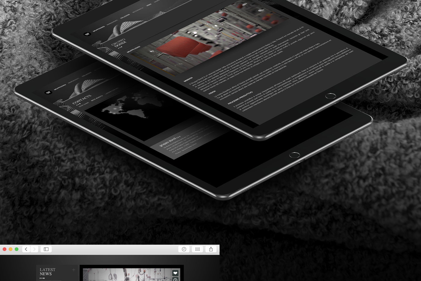 gruppo dondi tailor made filati company website moda design Webdesign