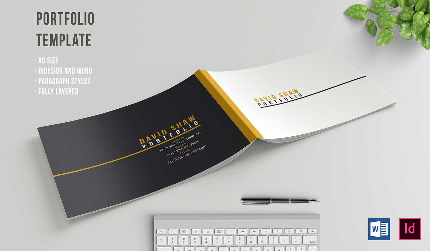 Populair A5 PORTFOLIO TEMPLATE on Behance @WZ75