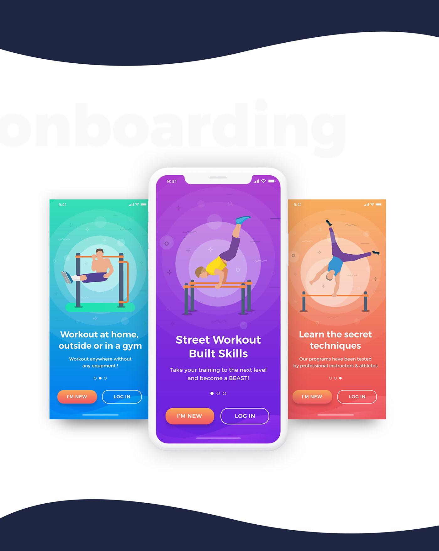 fitness sport UI ux gym fitnessapp mobileapp