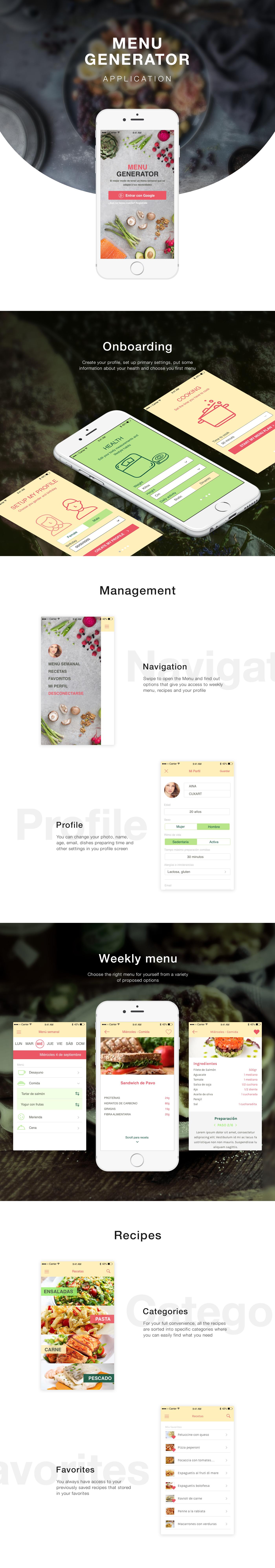 app ux UI design interactive design Food  Health