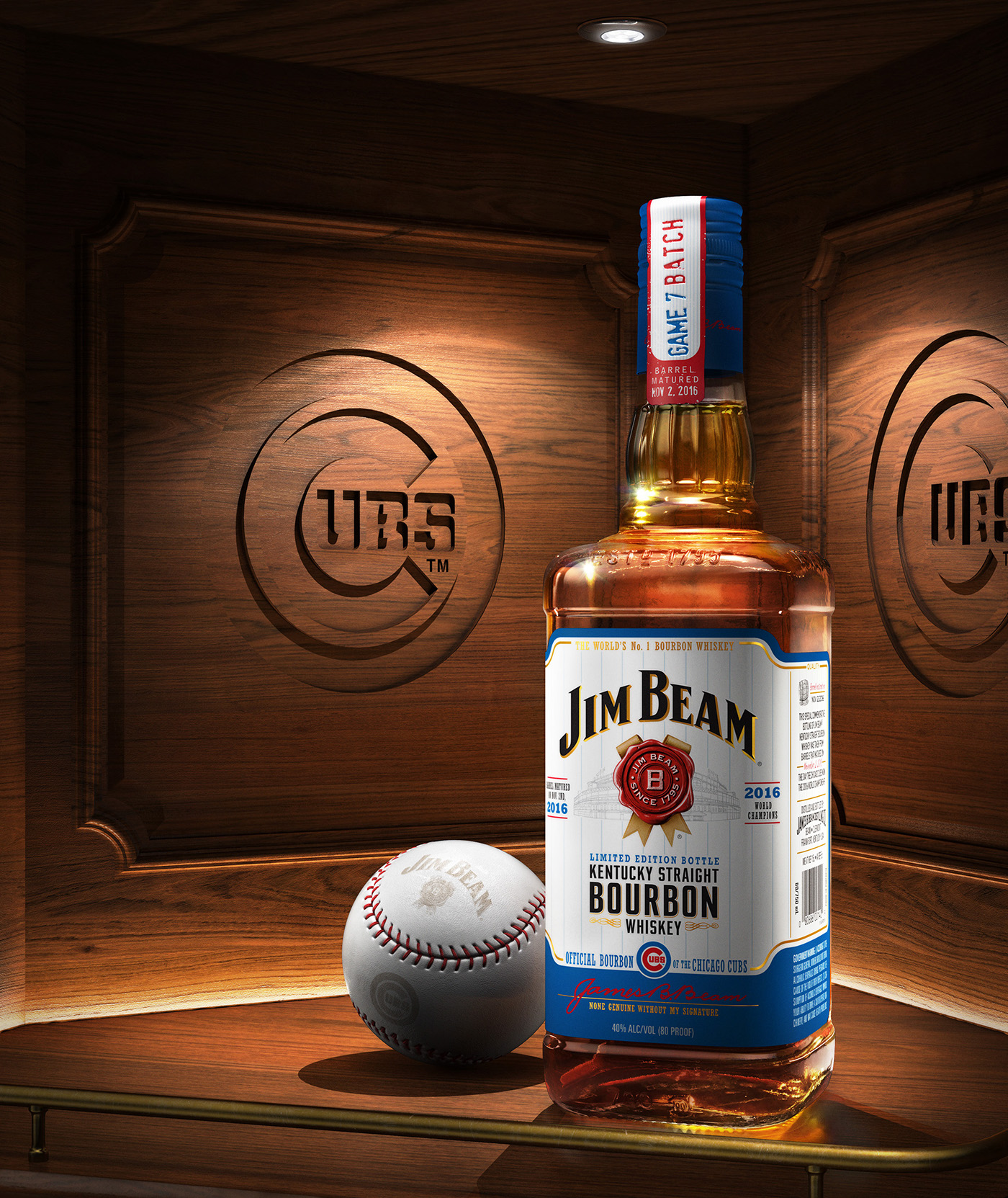 Jim Beam Cubs Limited Edition Bottle On Behance