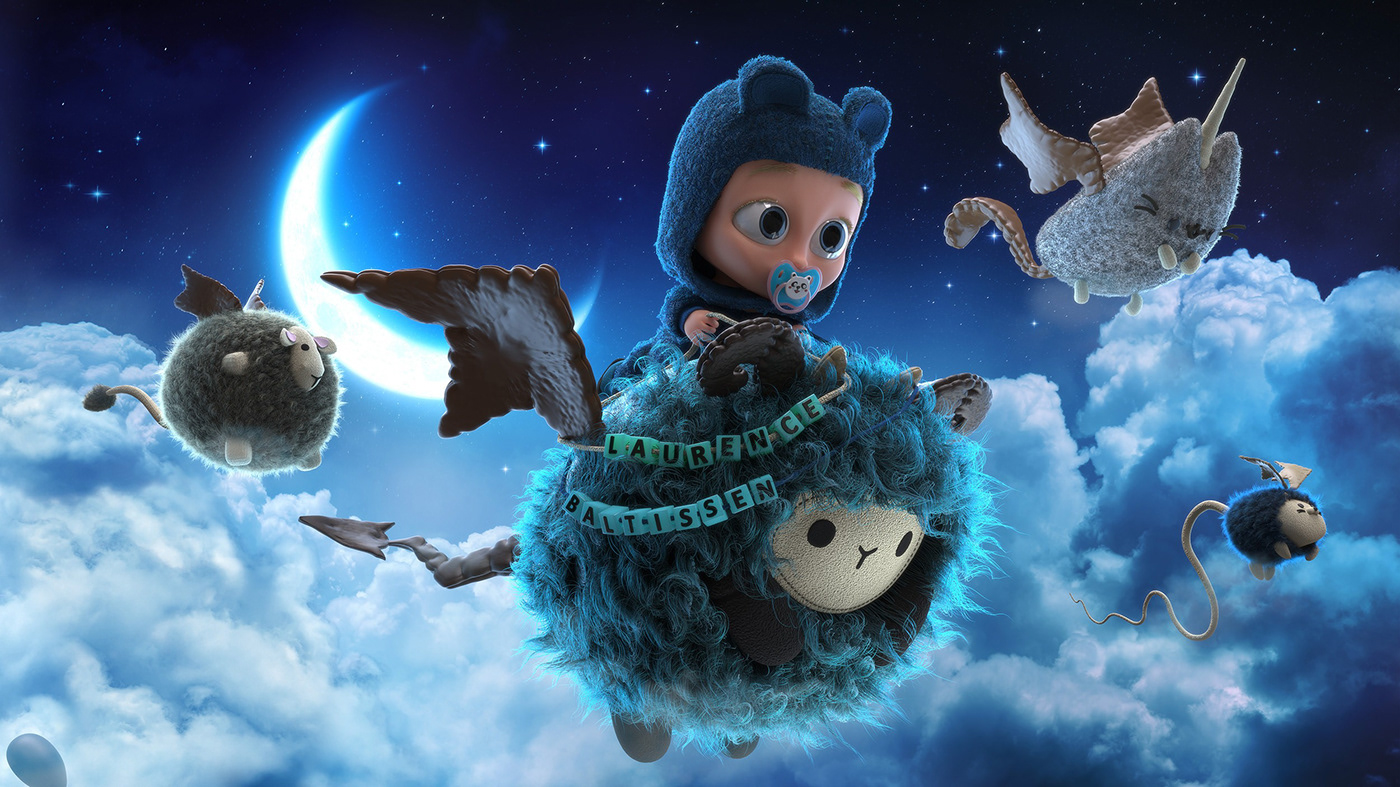 animals baby babycard Character creature design hair monster