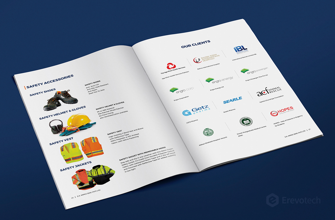 safety accessories catalogue design