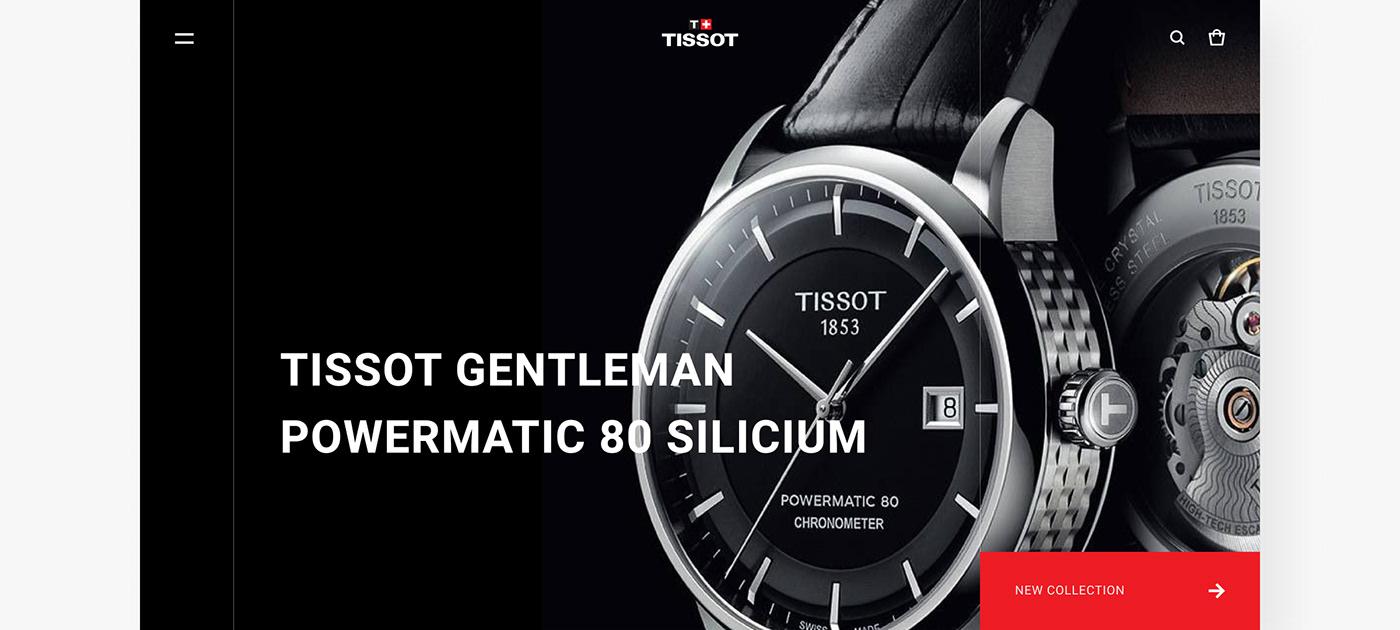 clock concept redesign TISSOT watch Website