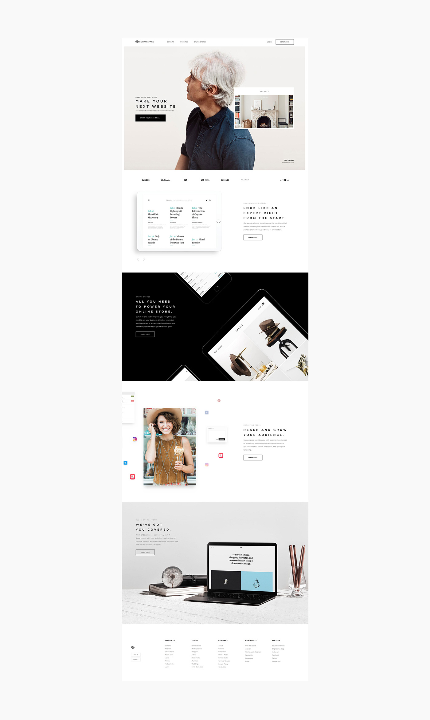 Web Design: Squarespace Re-design