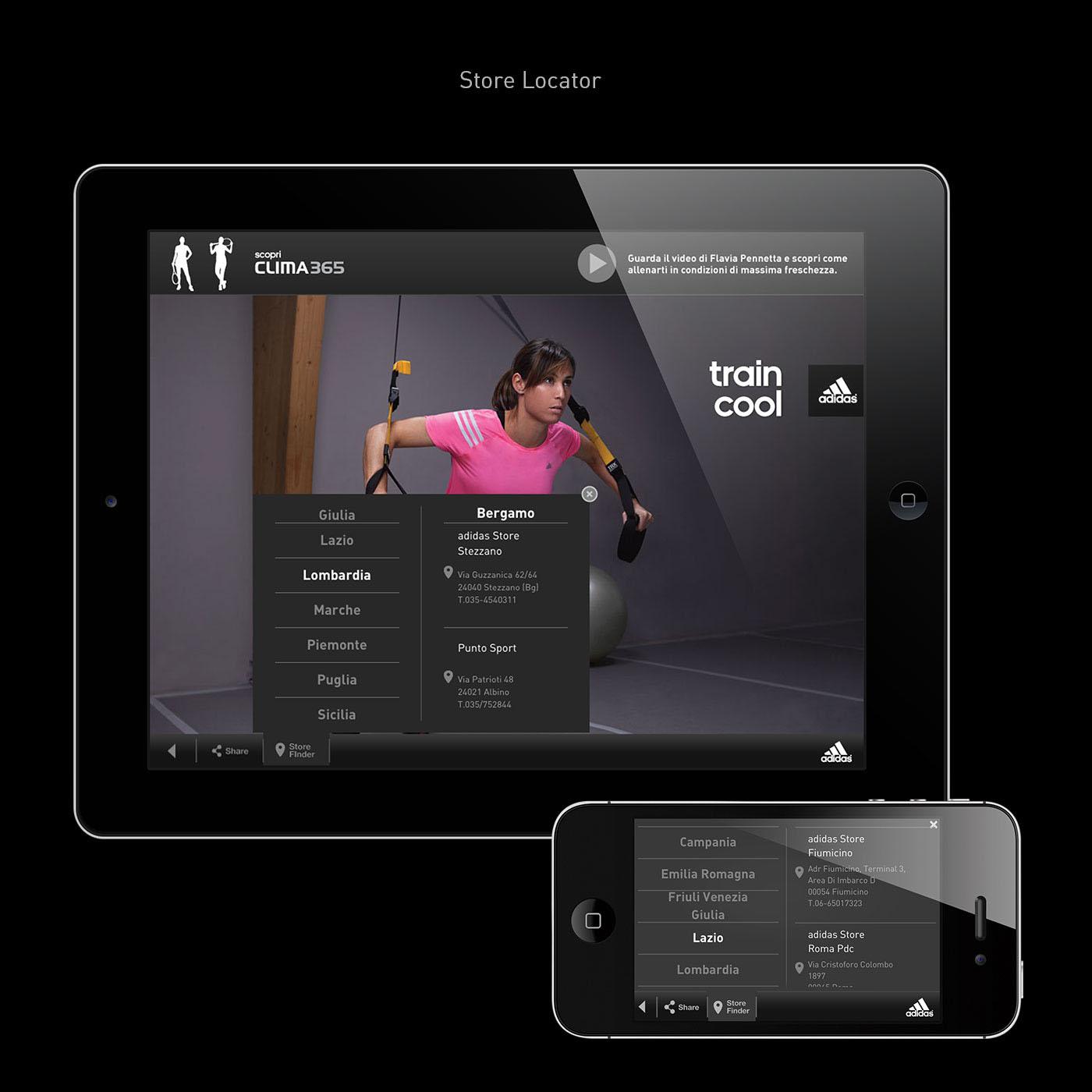 adidas training Italy iPad iphone apps storyboard daniele de rossi flavia pennetta valentina vezzali alessandro matri martin castrogiovanni football tennis fencing