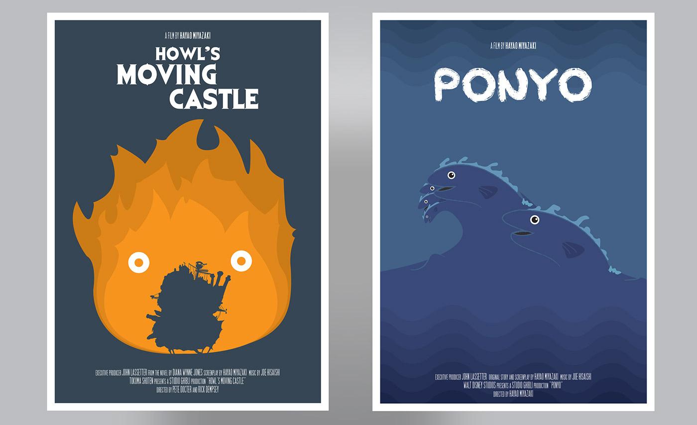 Studio Ghibli Posters on Behance 8dcac8d706