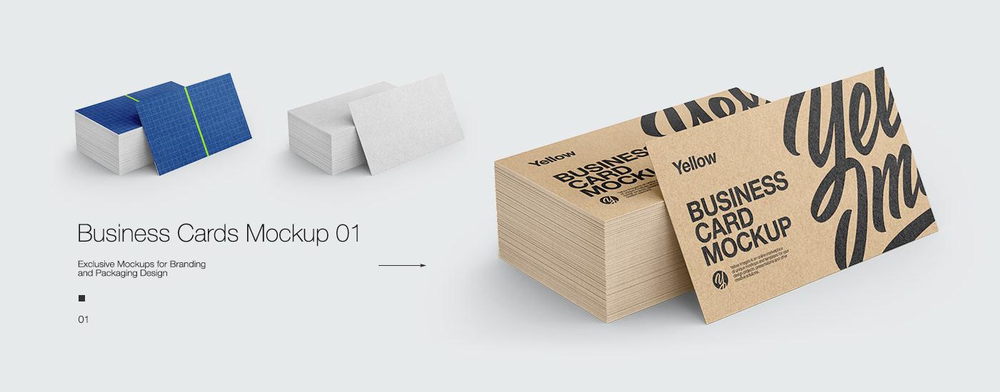 10 kraft business cards mockups on behance