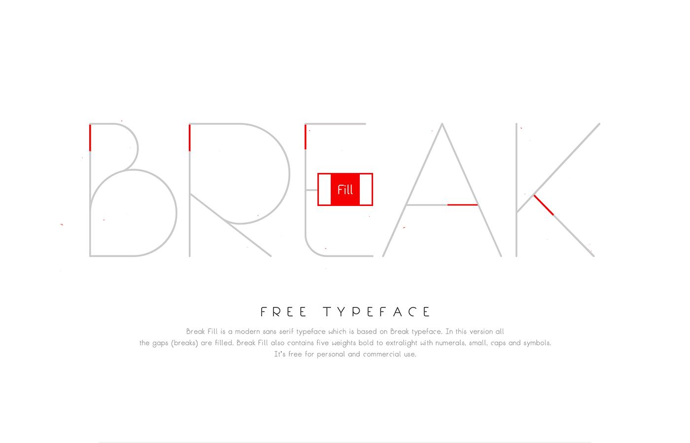Break fill free typeface on behance biocorpaavc