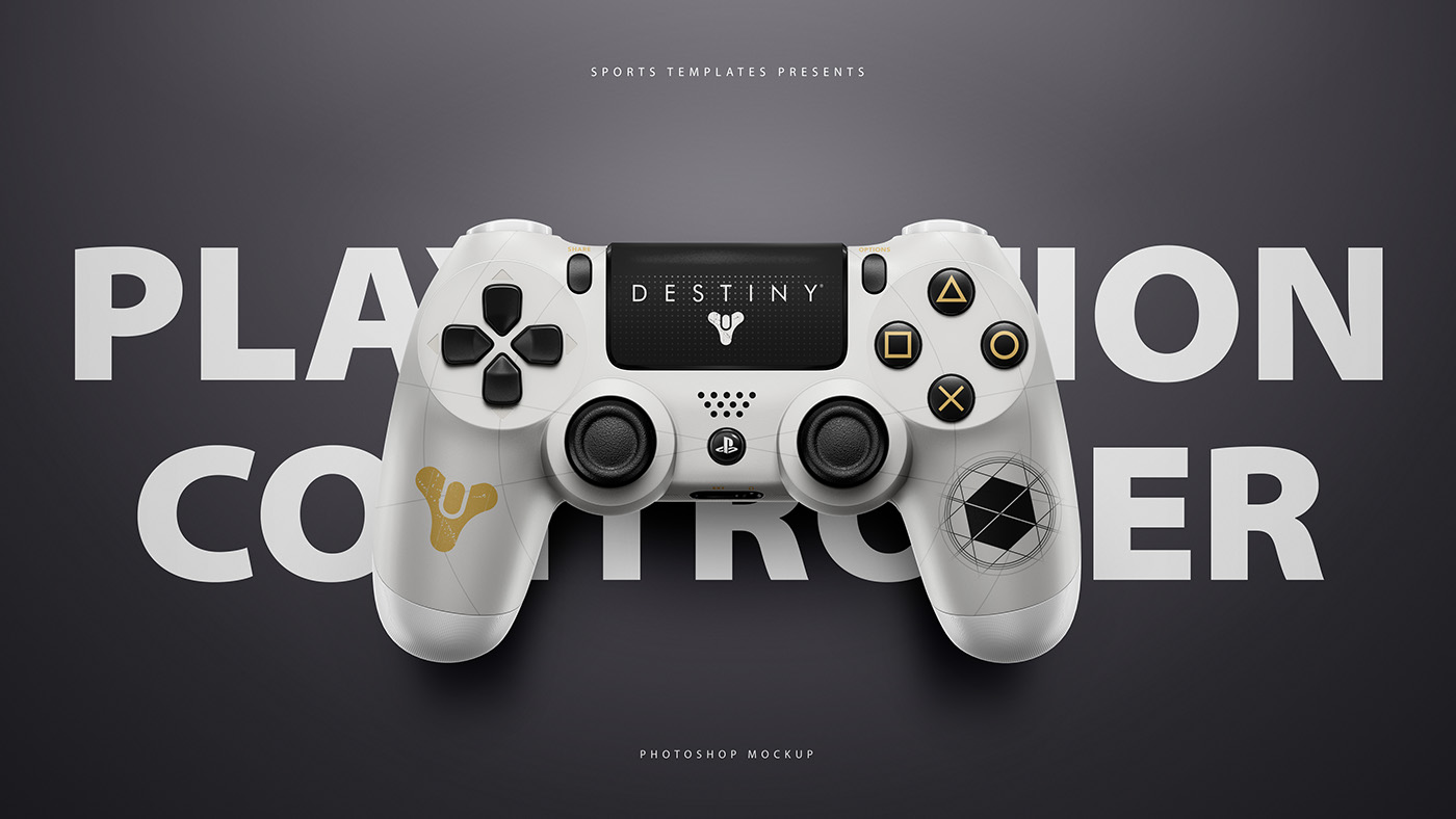 5300aad7b72f PLAYSTATION 4   XBOX ONE CONTROLLER PSD Mockup Template on Behance