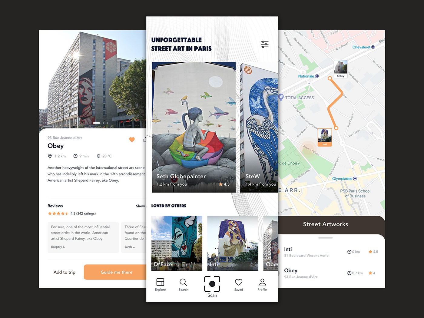Street Art Mobile App Concept