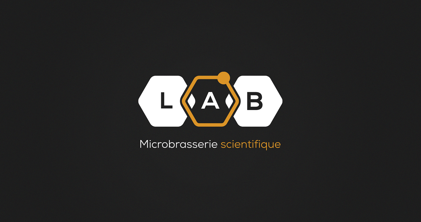 Microbrasserie LAB | White and gold logo