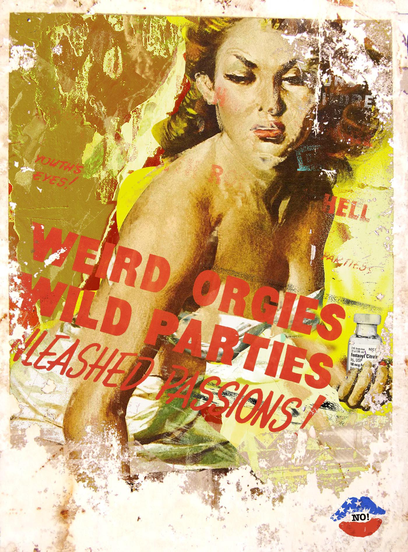 colagem collage drug abuse Drugs Editorial Illustration poster vintage Film   movie portrait