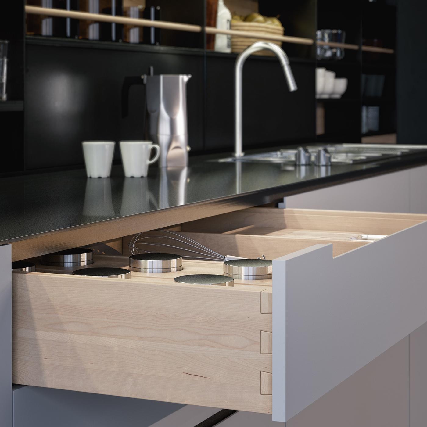 Kitchen CGI HDRI Test On Behance