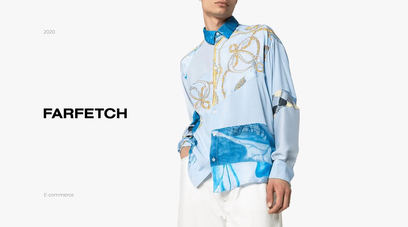 Clothing concept e-commerce farfetch   Fashion  shop store UI ux Webdesign