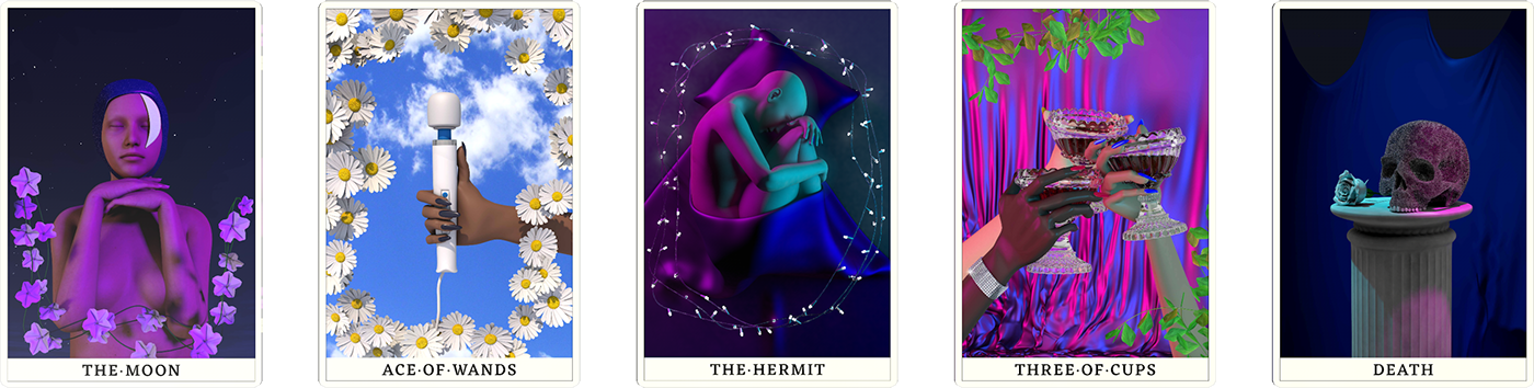 tarot Tarot Cards CGI deck cinema 4d spiritual artwork