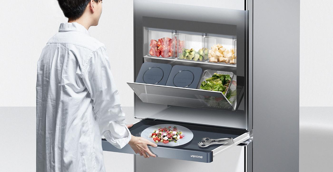 industrial design  product design  refrigerator concept design portfolio designerdot venine design industrial product