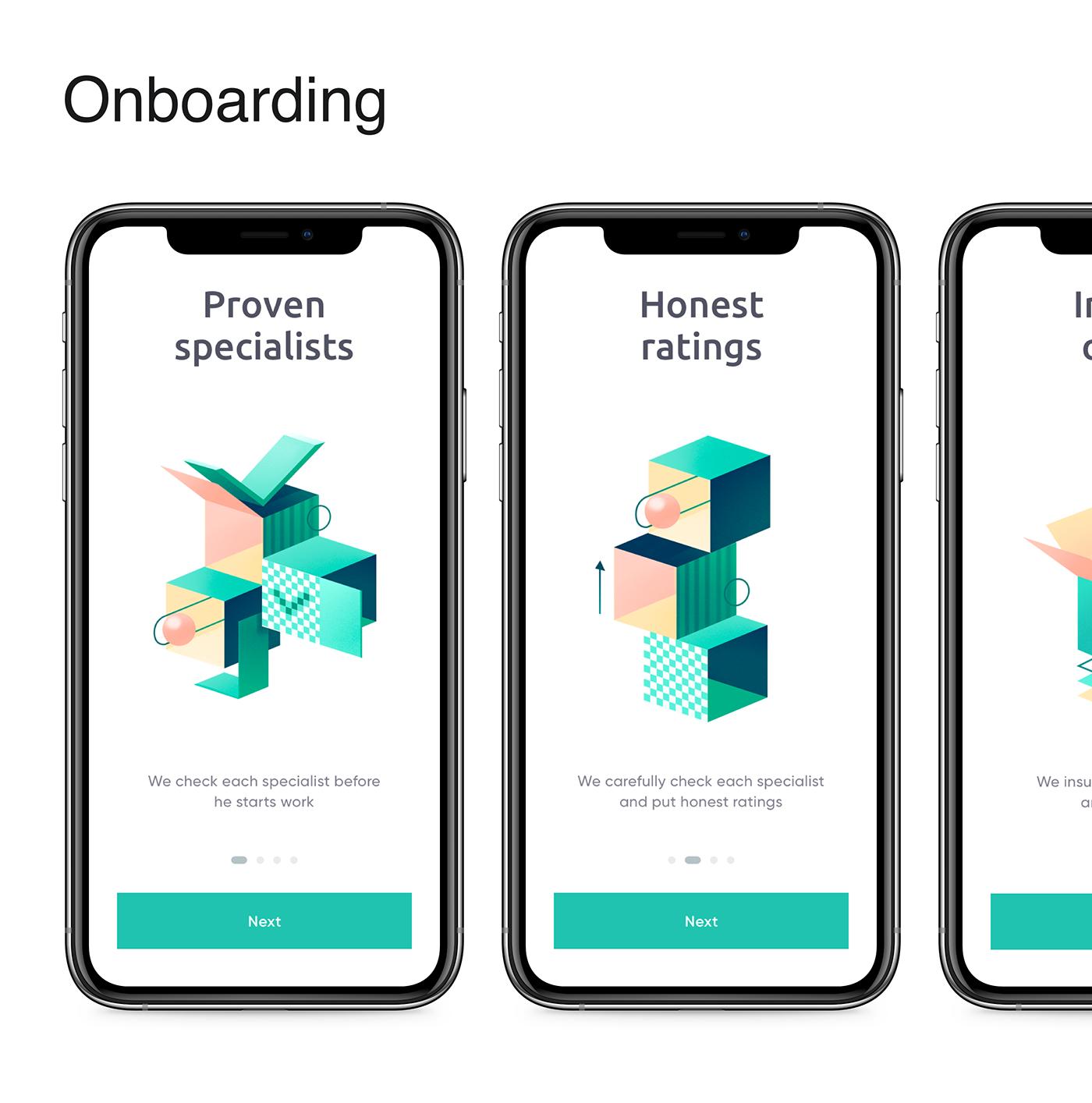 design download free ILLUSTRATION  mobile Onboarding template ui kit UI/UX Web Design