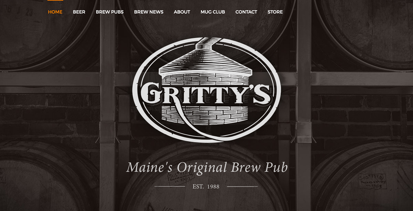 Gritty's brewery ILLUSTRATION  Logo Design HAND LETTERING engraving style beer company beverage brand identity Business Logo brewing company logo